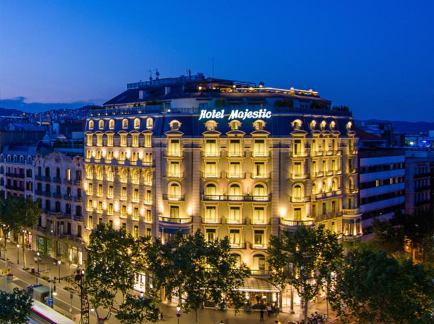 Vistas aéreas del Hotel Majestic en Passeig de Gràcia