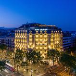 Vistes aèries de l'Hotel Majestic al Passeig de Gràcia