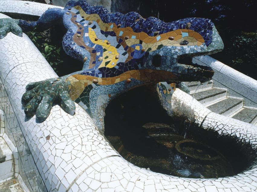 Parc Güell. Drac.  (Imagen M.A.S.)
