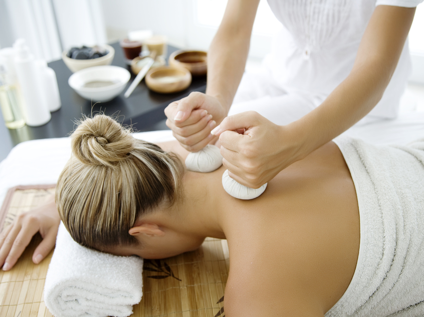 Sesión de masaje y relax