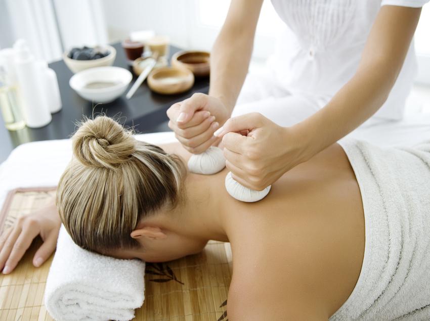 Sessió de massatge i de relaxament