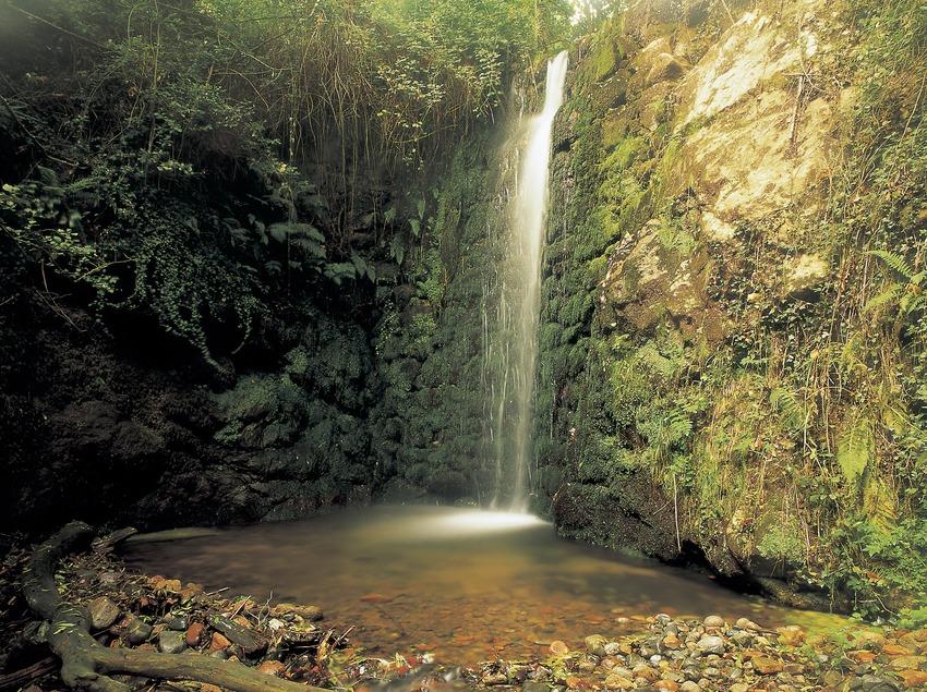 Salto de agua en el Parque Natural del Montseny.  (Kim Castells)
