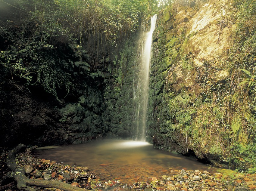 Wasserfall im Naturpark Montseny.