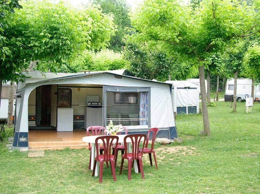 Caravana, camping Les Preses Natura