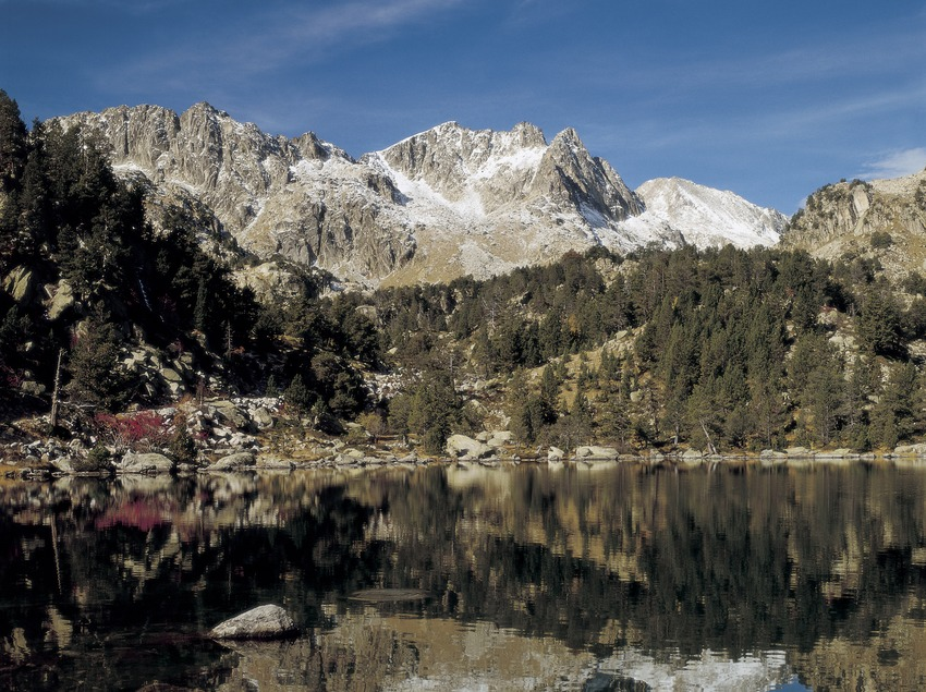 Lago de la Ratera, en el Parque Nacional de Aigüestortes i Estany de Sant Maurici.