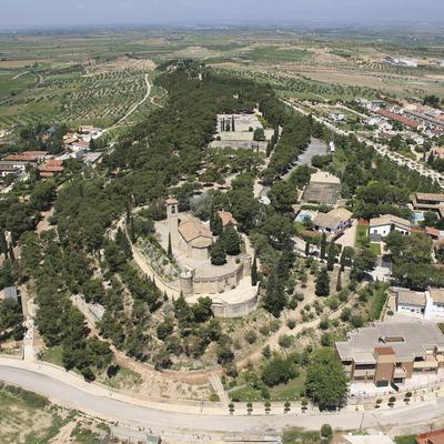 Vista aérea del Parque de Sant Eloi a Tàrrega