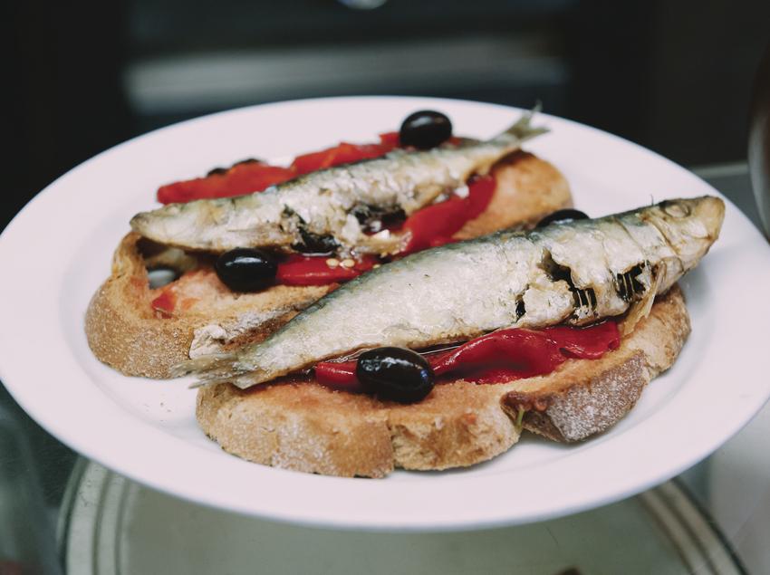 Plat de sardines.