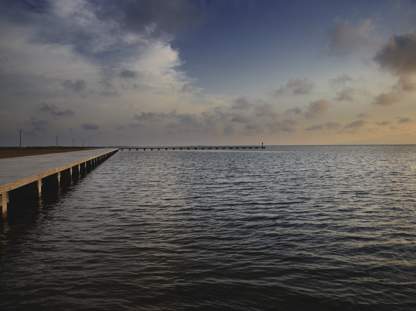 The Trabucador jetty on the Ebro Delta