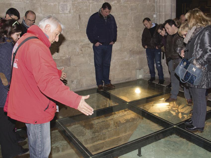 Explicació durant la visita guiada a Montblanc.