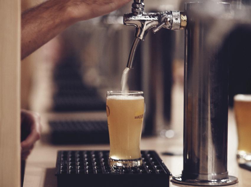 Tirador de cervesa.
