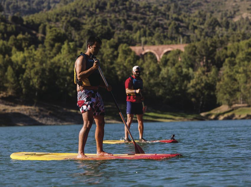 Pàdel surf al pantà de Riudecanyes