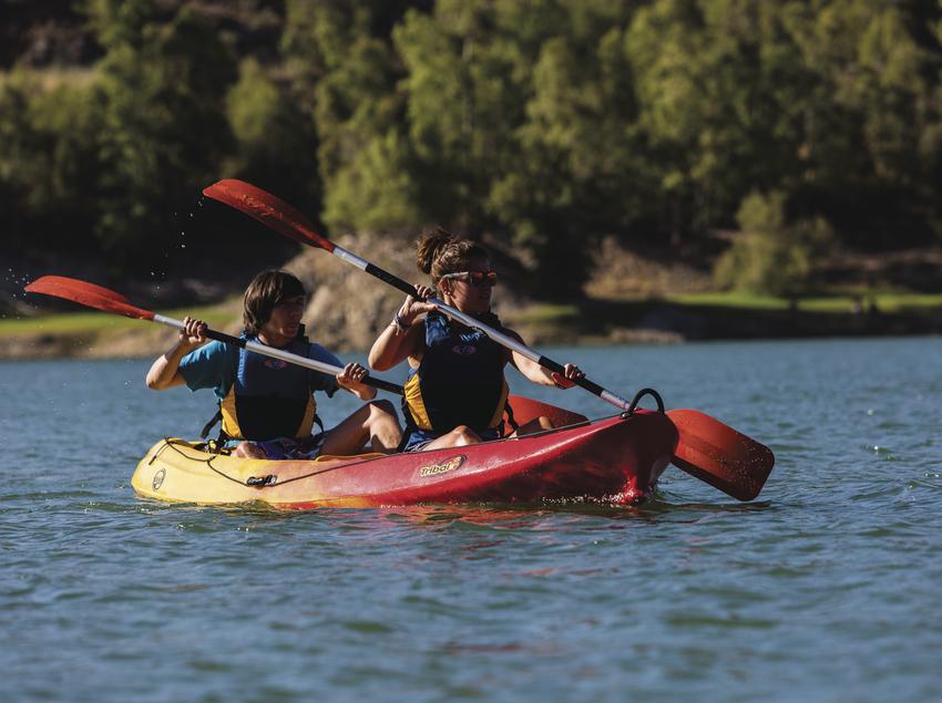 Kayaks, pantano, agua