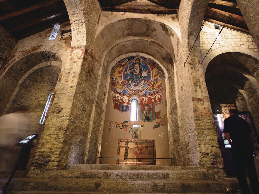 Pantocrátor en el interior de la iglesia Sant Climent de Taüll