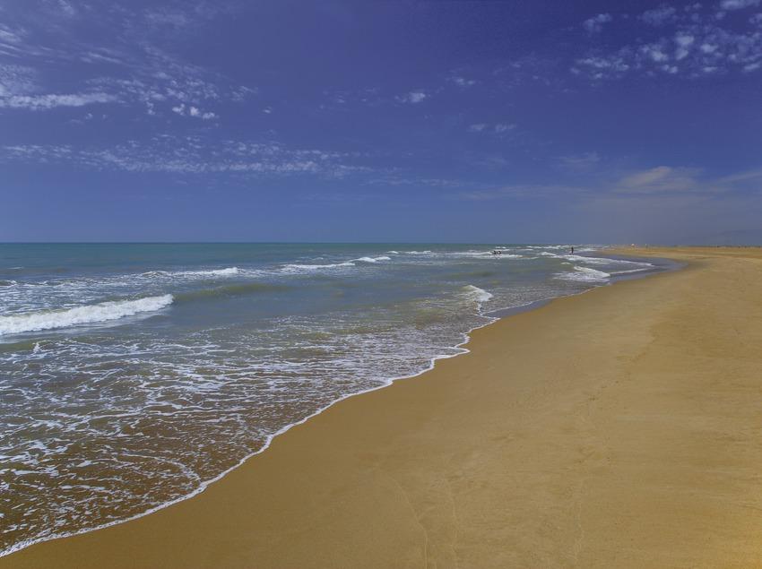 Playa del Trabucador en el Parque Natural del Delta del Ebro.