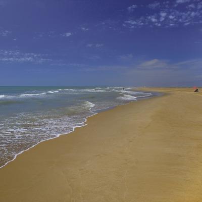 Trabucador beach in the Ebro Delta Nature Park