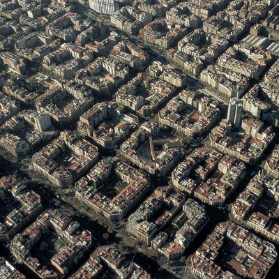 Vista aèria de l'Eixample (Oriol Llauradó)