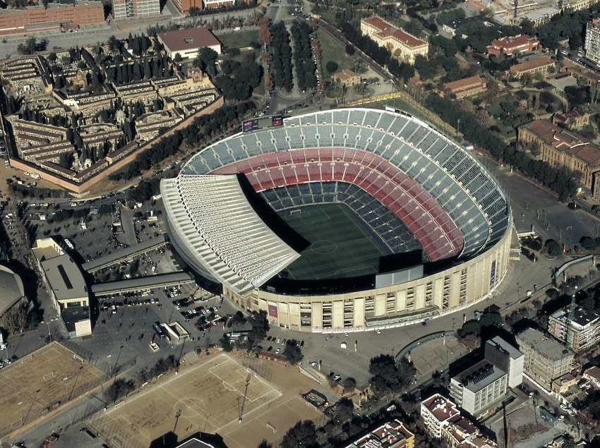 Camp Nou. Estadi del Futbol Club Barcelona.