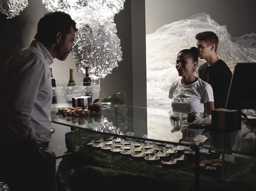 Mercat de formatges a l'espai gastronòmic Òpera Samfaina