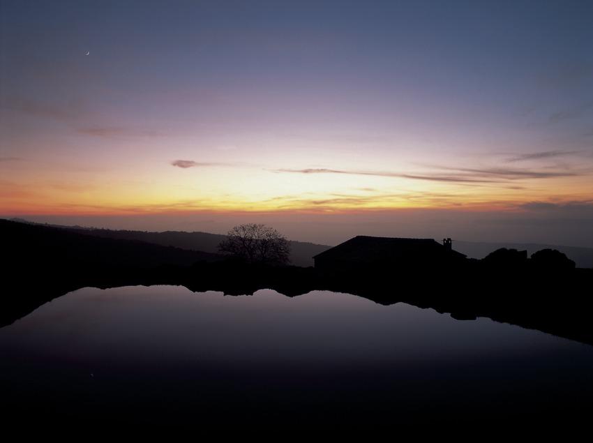 Tombée de la nuit sur le Pla de la Calma, Montseny  (Kim Castells)