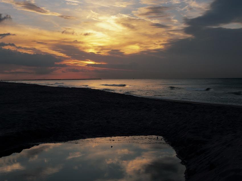 Amanecer en la playa.  (Kim Castells)