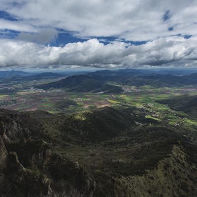 Vista panorámica de la Vall d'en Bas