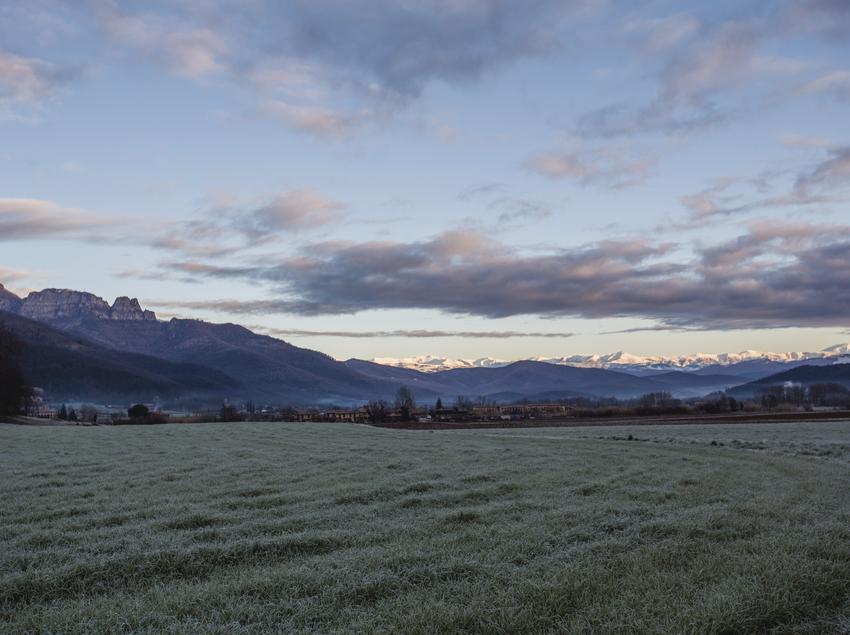 Paisatge panorámica de la Vall d'en Bas