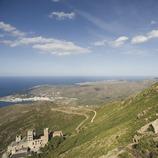 Verdera castle and the Sant Pere de Rodes monastery, in Cap de Creus Natural Park  (Nano Cañas)