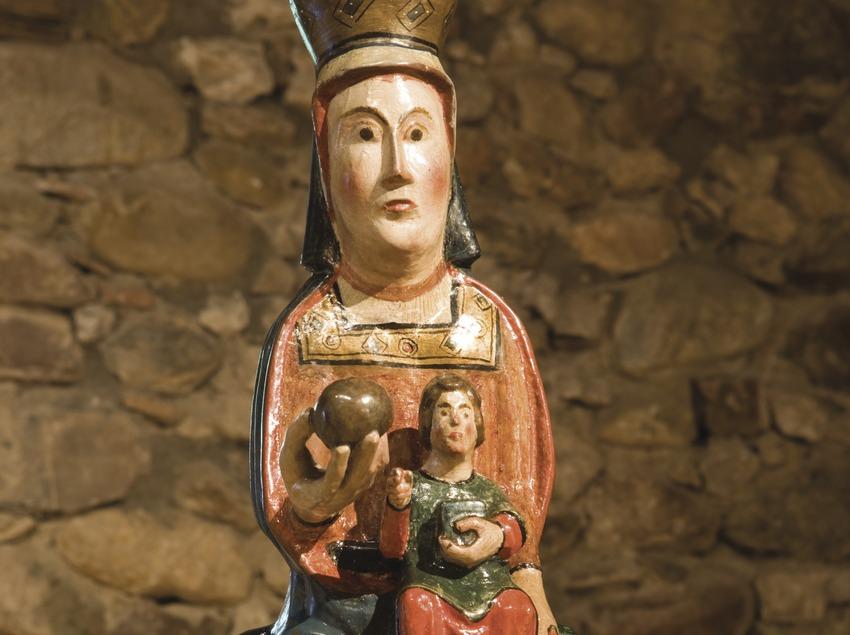 Talla de la Mare de Déu de la Mola (segle XIII). Museu d'Art Sacre de la Ribagorça  (Nano Cañas)