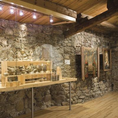 Sala de la col·lecció del Museu d'Art Sacre de la Ribagorça, l'Església vella de l'Assumpció de Santa Maria.  (Nano Cañas)