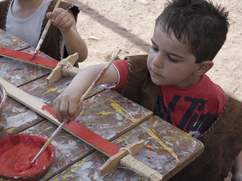 Children's workshop during Medieval Week