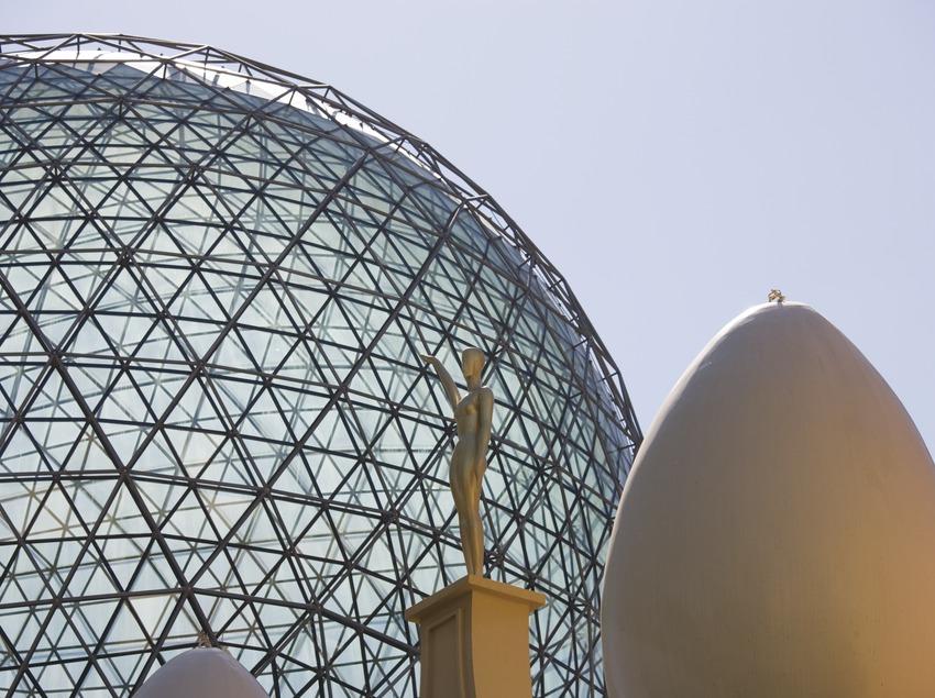 Galatea tower and dome in the Dali Theatre-Museum.