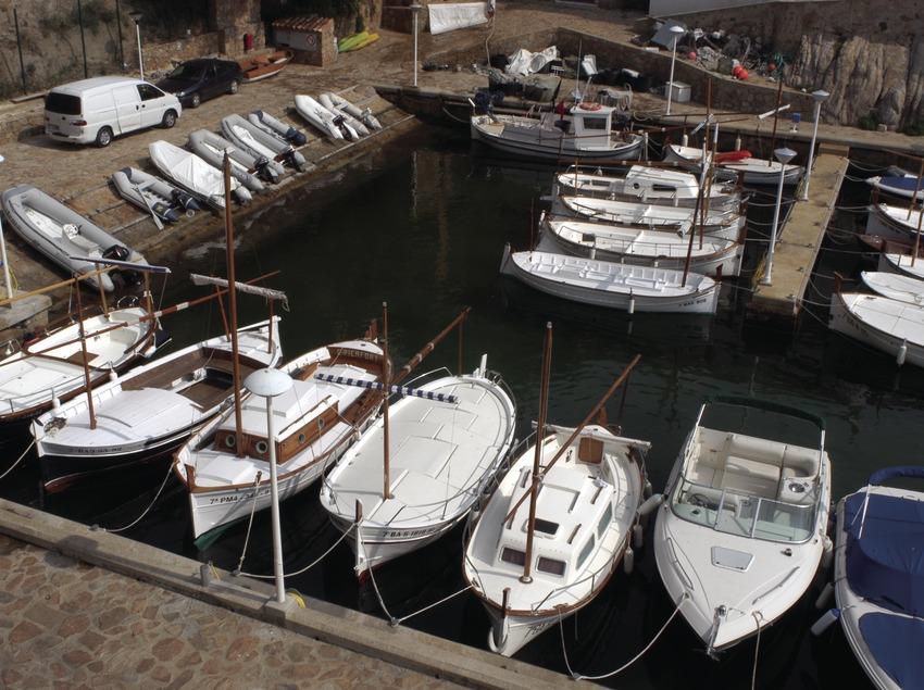 Embarcaciones amarradas en el Port d'Aiguablava  (Marc Ripol)