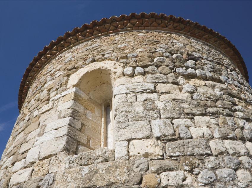 Ábside de la antigua iglesia parroquial de Sant Pere.  (Nano Cañas)