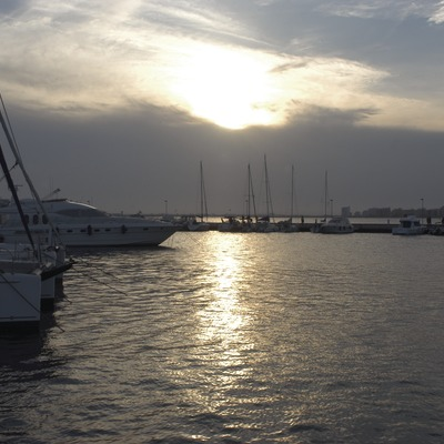 Vista general de la dársena deportiva del puerto de Roses  (Marc Ripol)