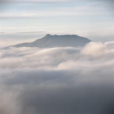 Turó de l'Home i les Agudes, wreathed in mists  (Kim Castells)