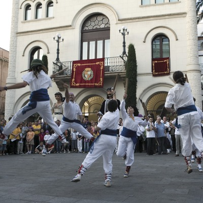The main festival in Badalona. Bastoners (stick dancers)