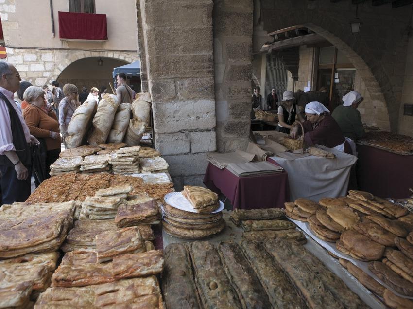 Puesto del mercado la Semana Medieval.