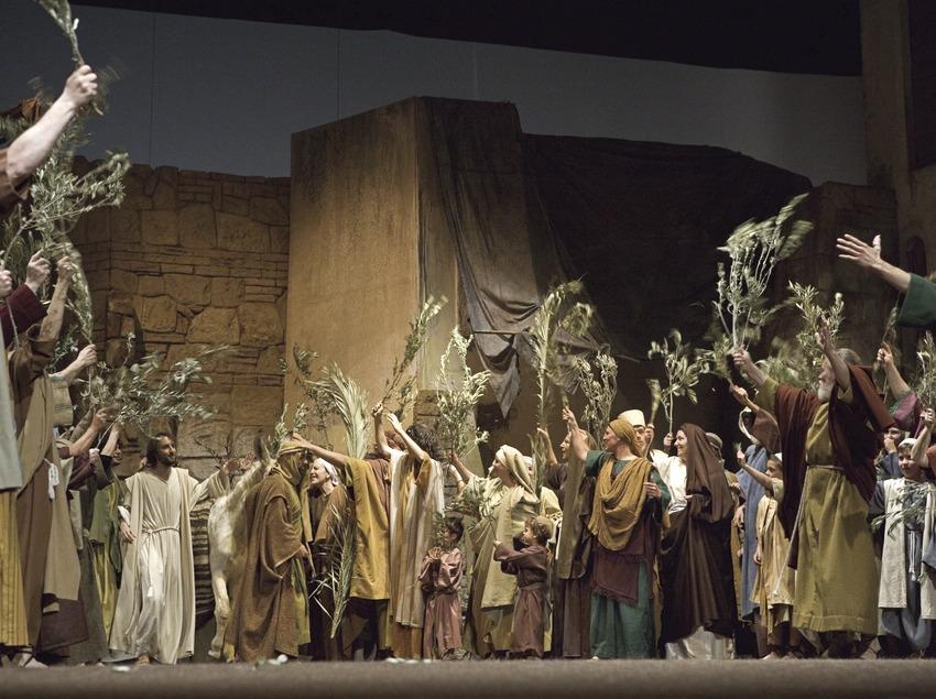 Entrada de Jesús a Jerusalem a la representació teatral de la Passió  (Oriol Llauradó)