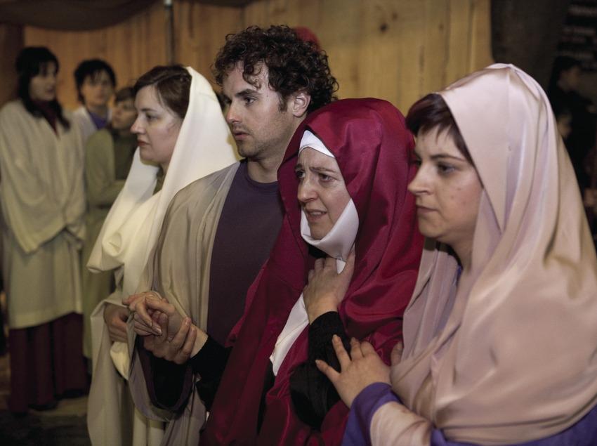 Escena de la processó del Via Crucis Vivent.  (Oriol Llauradó)