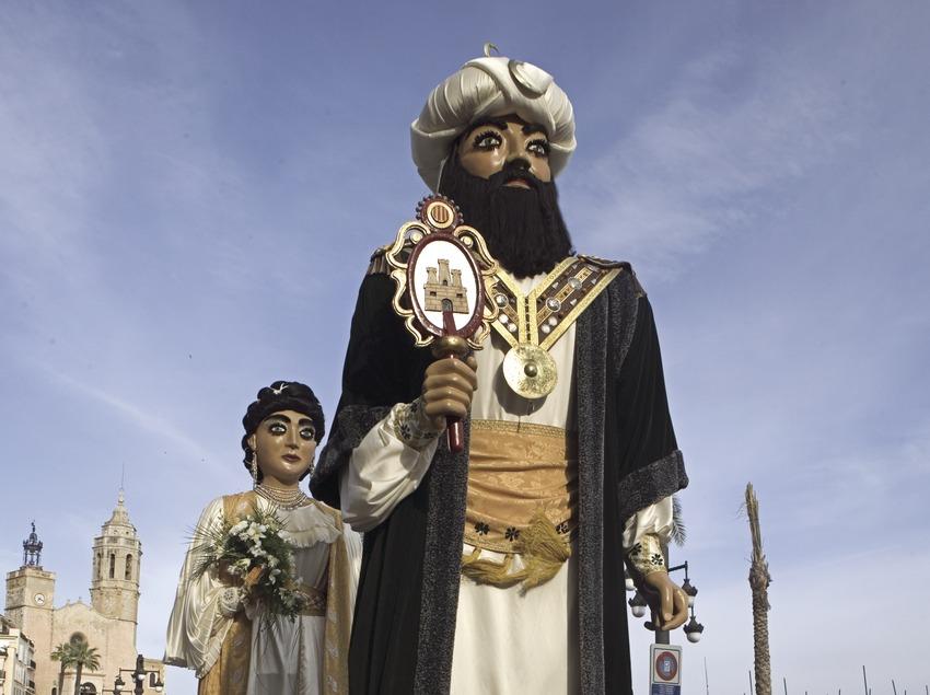 Géants à la parade de rue de Corpus Christi.  (Oriol Llauradó)