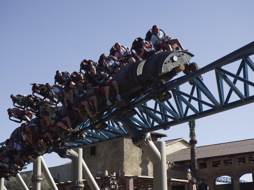 Tomahawk ride attraction in Port Aventura.
