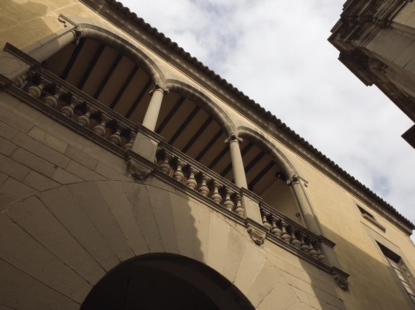 Detall d'una façana del Poble Espanyol.  (Nano Cañas)