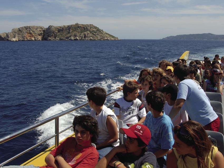 Vue sur la réserve marine des îles Medes.