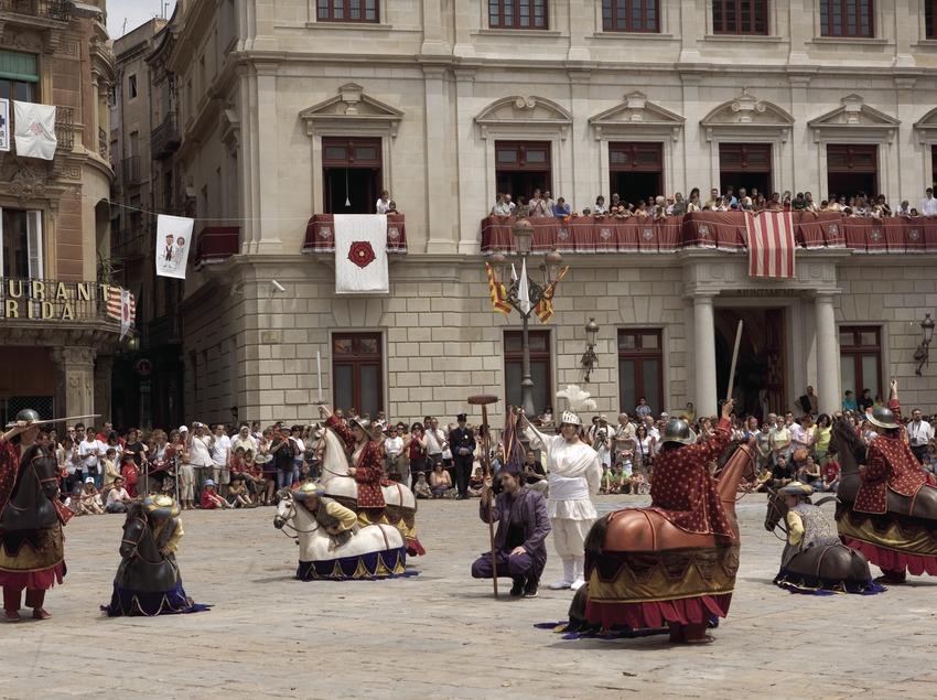 Baile de caballitos durante la Fiesta Mayor.  (Oriol Llauradó)