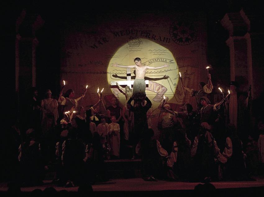 Escena final del ball del Sant Crist.  (Oriol Llauradó)