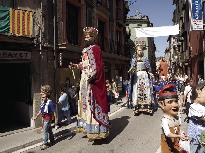 Pasacalle durante la Festa de la Llana i del Casament a Pagès.  (Oriol Llauradó)
