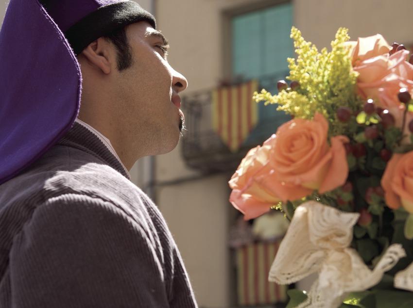 Padrino durante la Festa de la Llana i del Casament a Pagès.  (Oriol Llauradó)