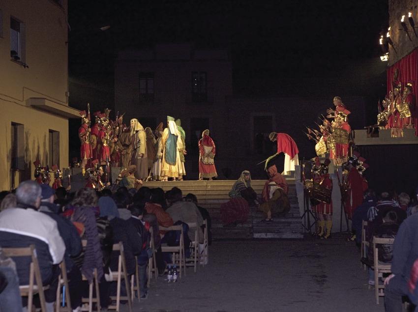 Representacíó de la sentència de Pilat el Dijous Sant.  (Oriol Llauradó)