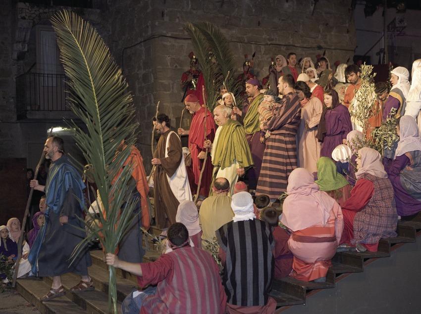 Representació de l'entrada de Jesús a Jerusalem el Dijous Sant.  (Oriol Llauradó)