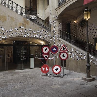 Pati i escala d'entrada de l'Ateneu Barcelonès.  (Nano Cañas)